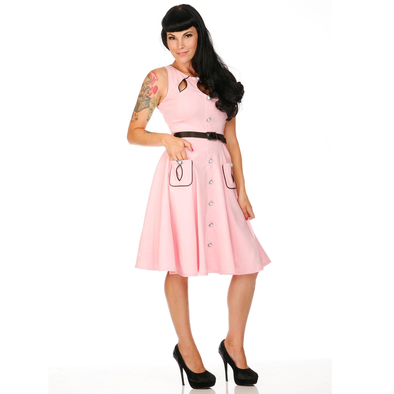 voodoo vixen kleid damen 50er vintage stil retro rockabilly rosa eu 42 44 ebay. Black Bedroom Furniture Sets. Home Design Ideas