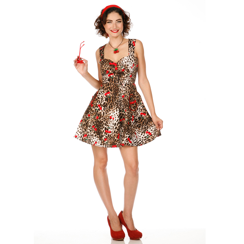 Voodoo Vixen Leopard Cherry 50s Vintage Style Retro Rockabilly Prom Party Dress | eBay