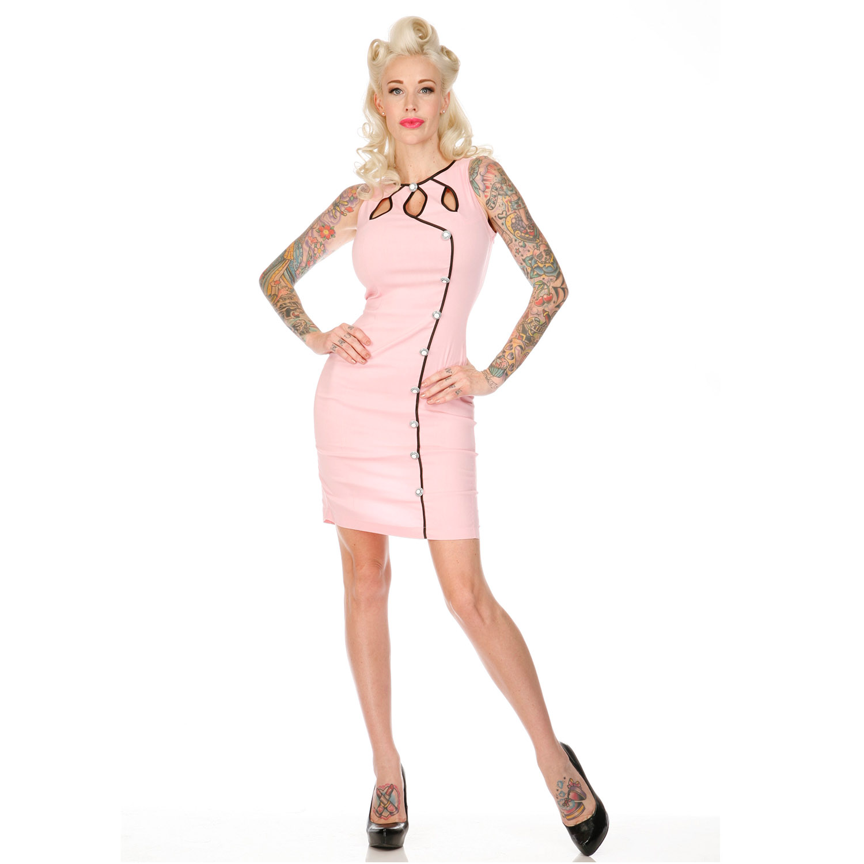 Voodoo-Vixen-Pink-50s-Vintage-Style-Retro-Rockabilly-Diner-Pencil-Wiggle-Dress