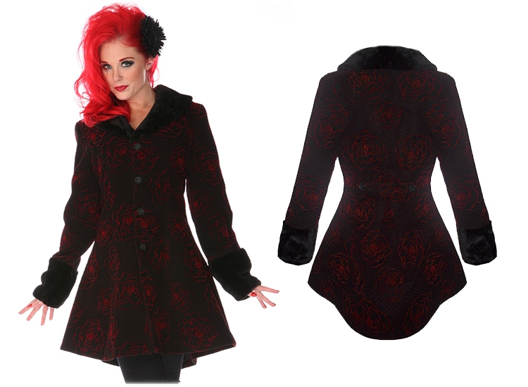 Voodoo vixen black rockabilly vintage 50s retro red rose - Rockabilly mantel ...