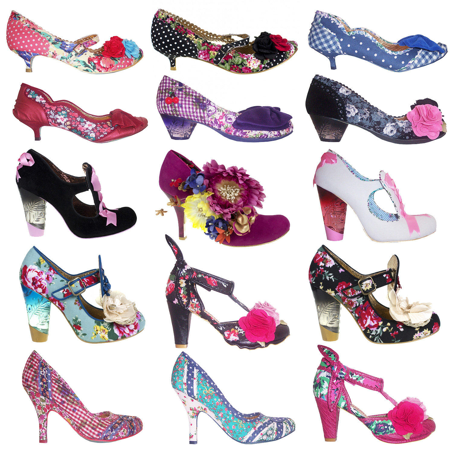 irregular choice new floral polka dot vintage retro