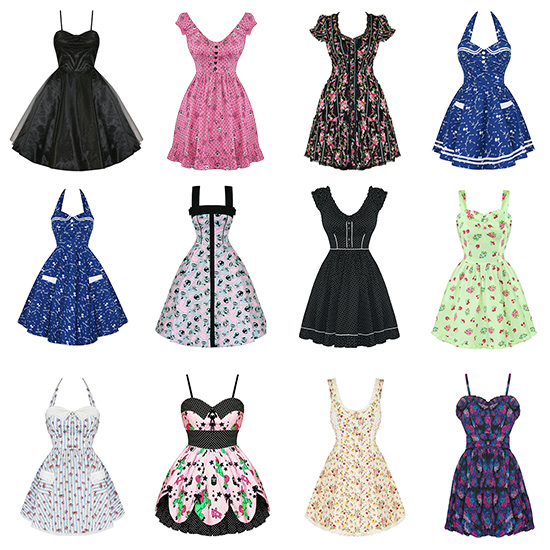 Vintage style party dresses
