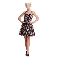 Hell Bunny Starcrossed Gothic Rockabilly Vintage 50s Style Party Prom Dress
