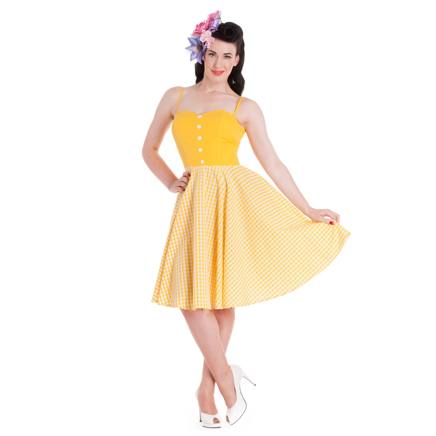 Vintage 50s Yellow Dresses
