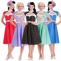 Hell Bunny Melanie Polka Dot Rockabilly Vintage Inspired 50s Party Prom Dress