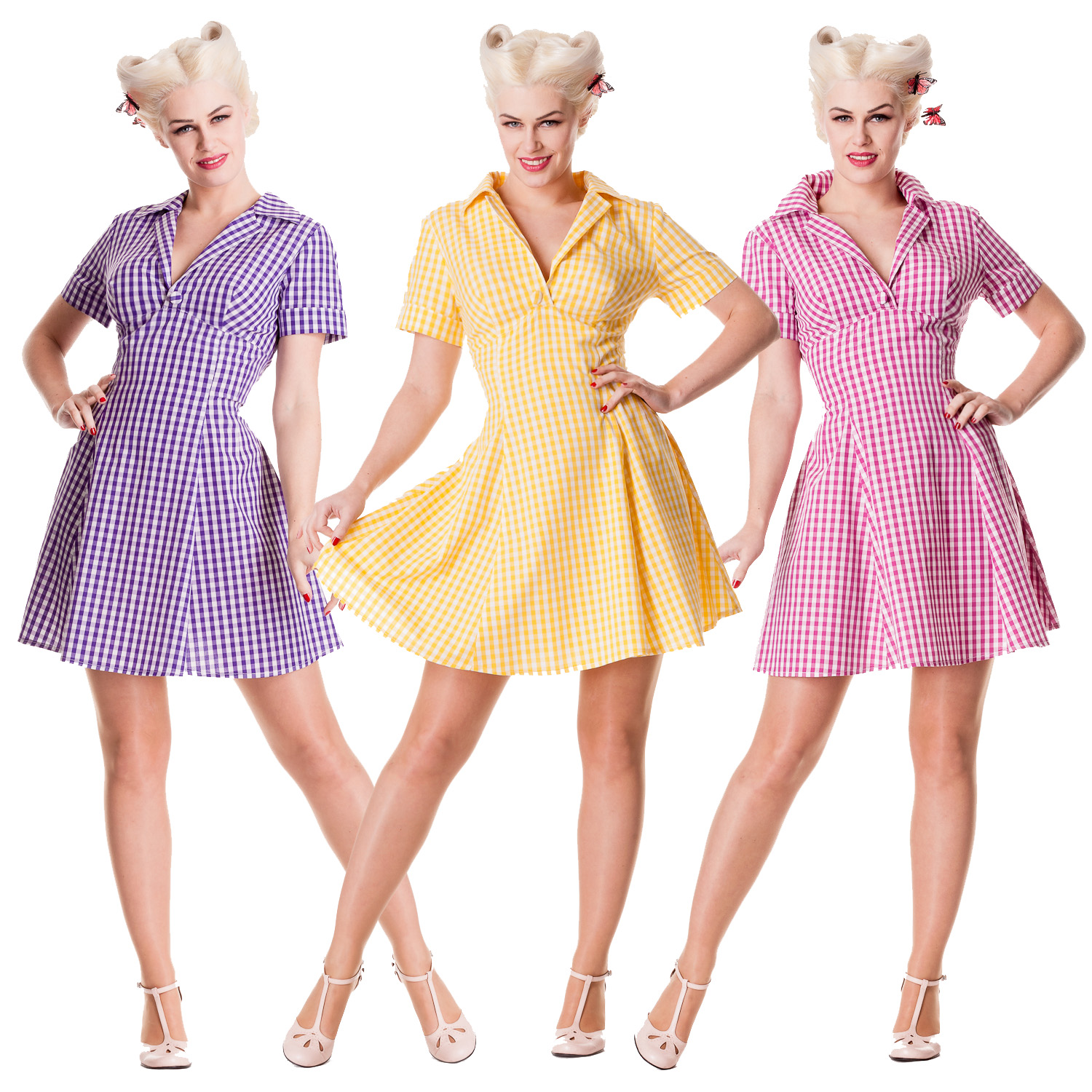 9027ad209dc Image is loading Hell-Bunny-Tuesday-Gingham-Summer-Rockabilly-Vintage-50s-