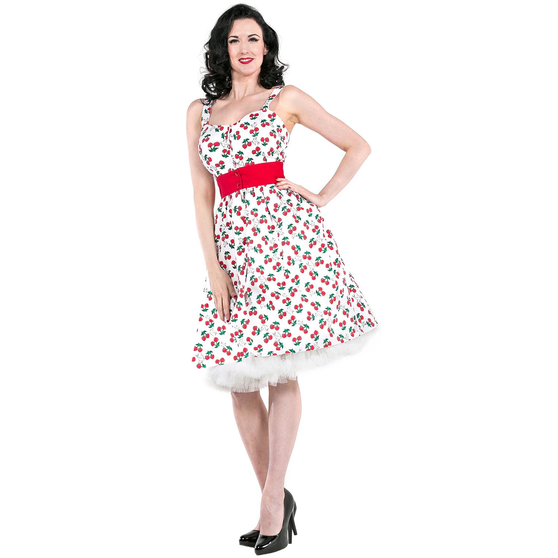 a3745701e9895 Caricamento dell immagine in corso Vestito-abito-donna-stile-Rockabilly- Vintage-1950-stampa-