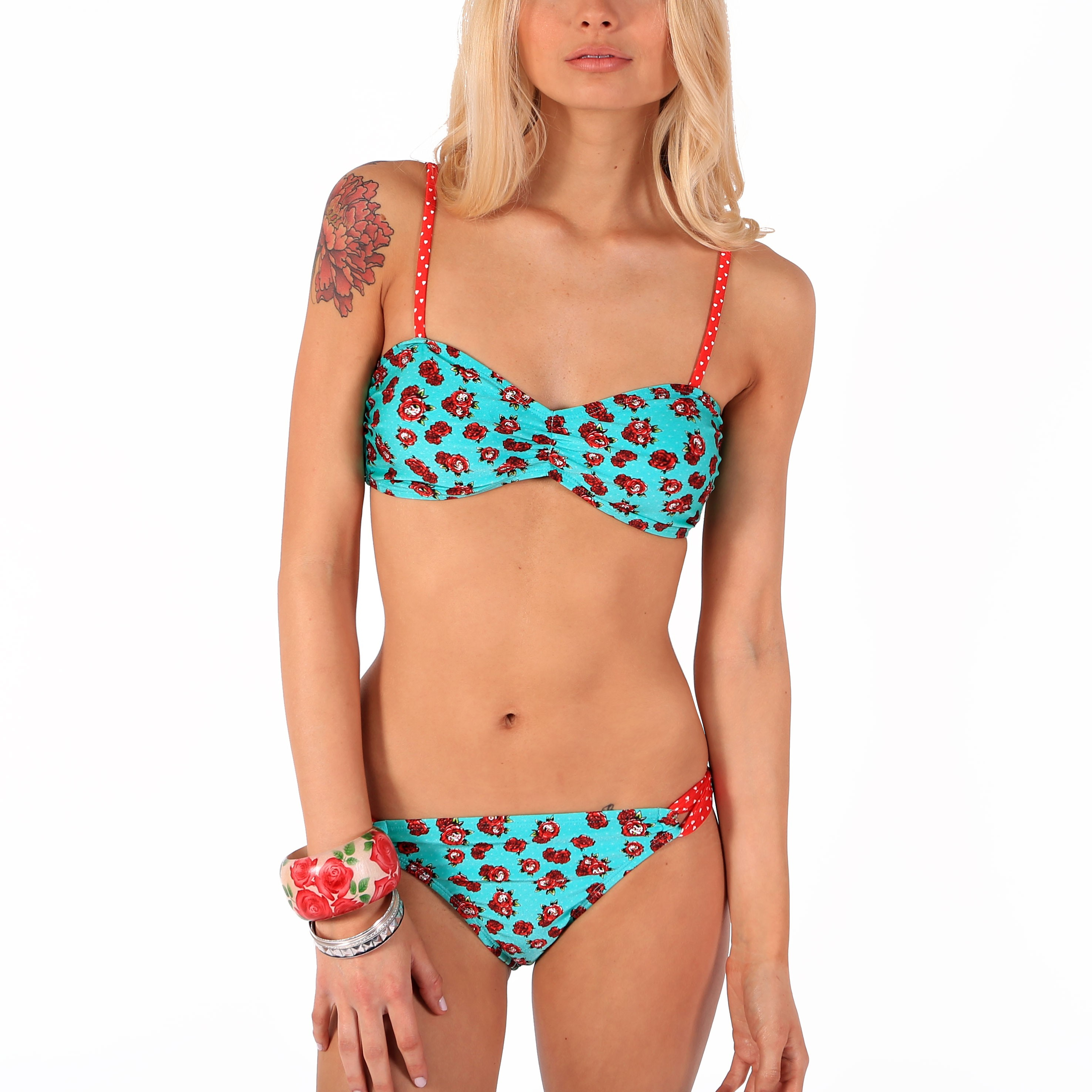 bikini iron fist floral bleu sexy maillot de bain plage ebay. Black Bedroom Furniture Sets. Home Design Ideas