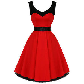 Hearts and Roses London Red 1950s Dress