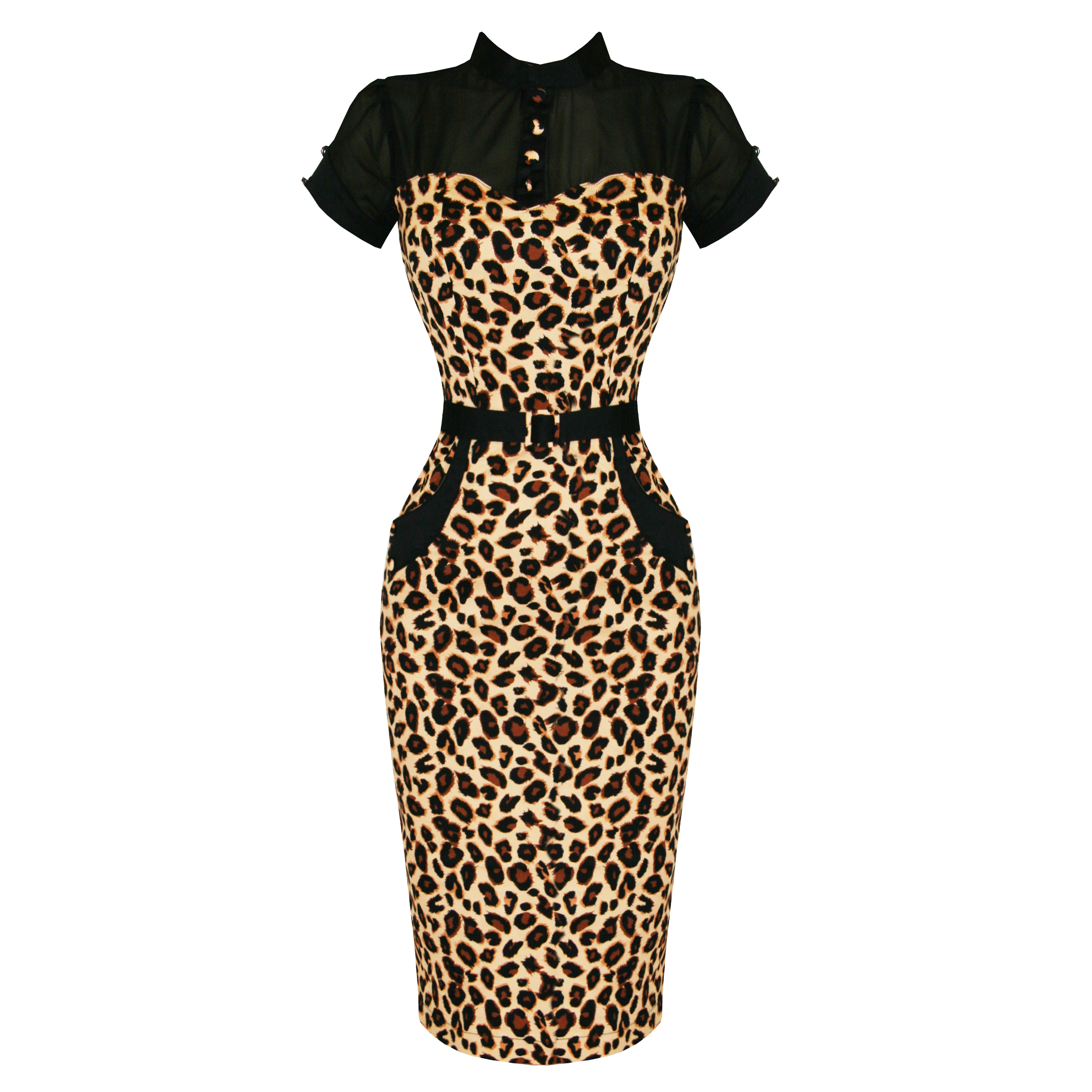 Banned Brown Leopard Rockabilly Pinup Vintage 50s Cocktail Party ...