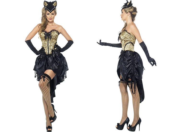 tenue d guisement femme sexy fever burlesque kitty corset. Black Bedroom Furniture Sets. Home Design Ideas