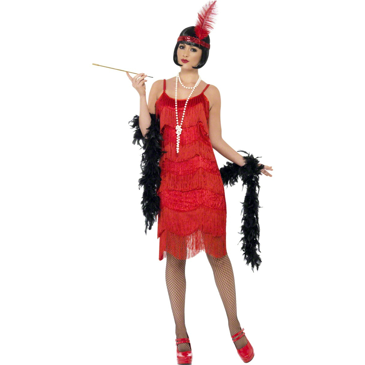 Womens New Sexy Red Flapper Shimmy Vintage 20s Style Fancy ...