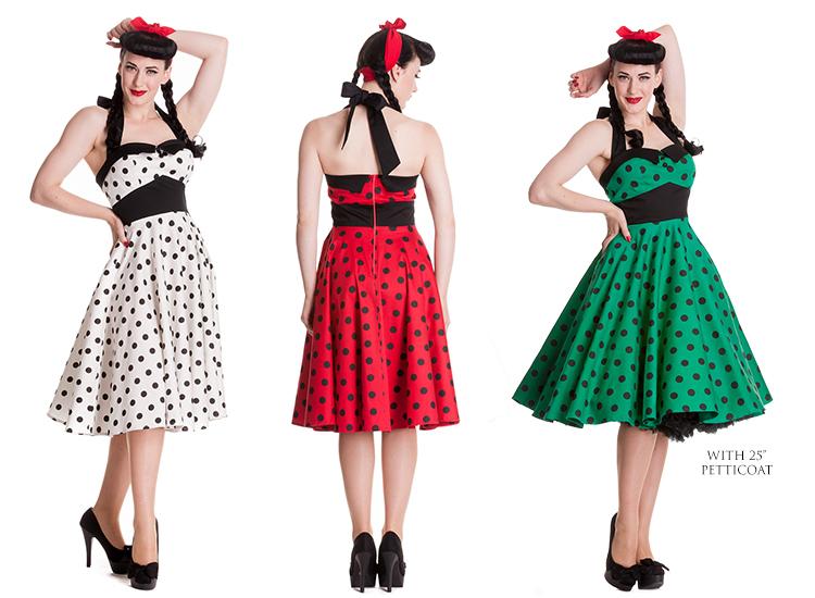 Hell Bunny Adelaide Polka Dot Retro Rockabilly Vintage 50s Party ...