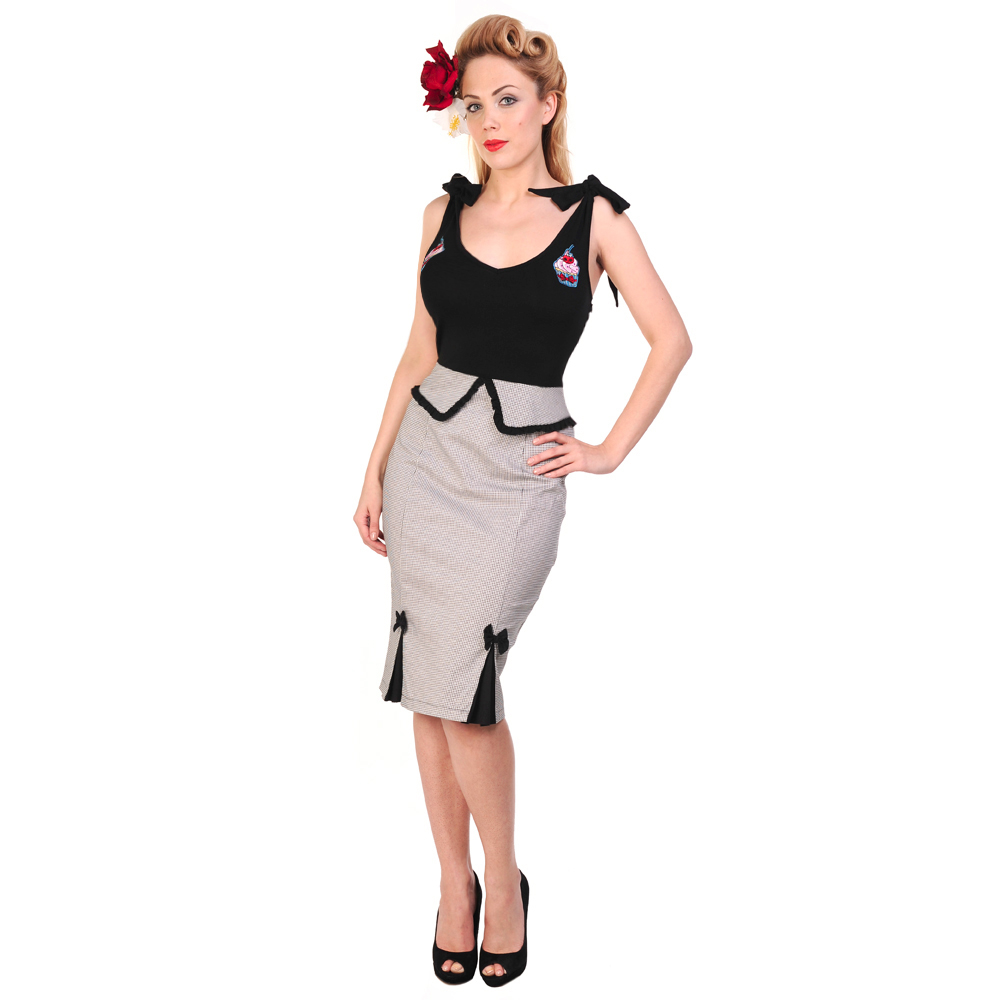 Banned Black Dogtooth Cupcake Rockabilly Pinup Vintage 50s ...