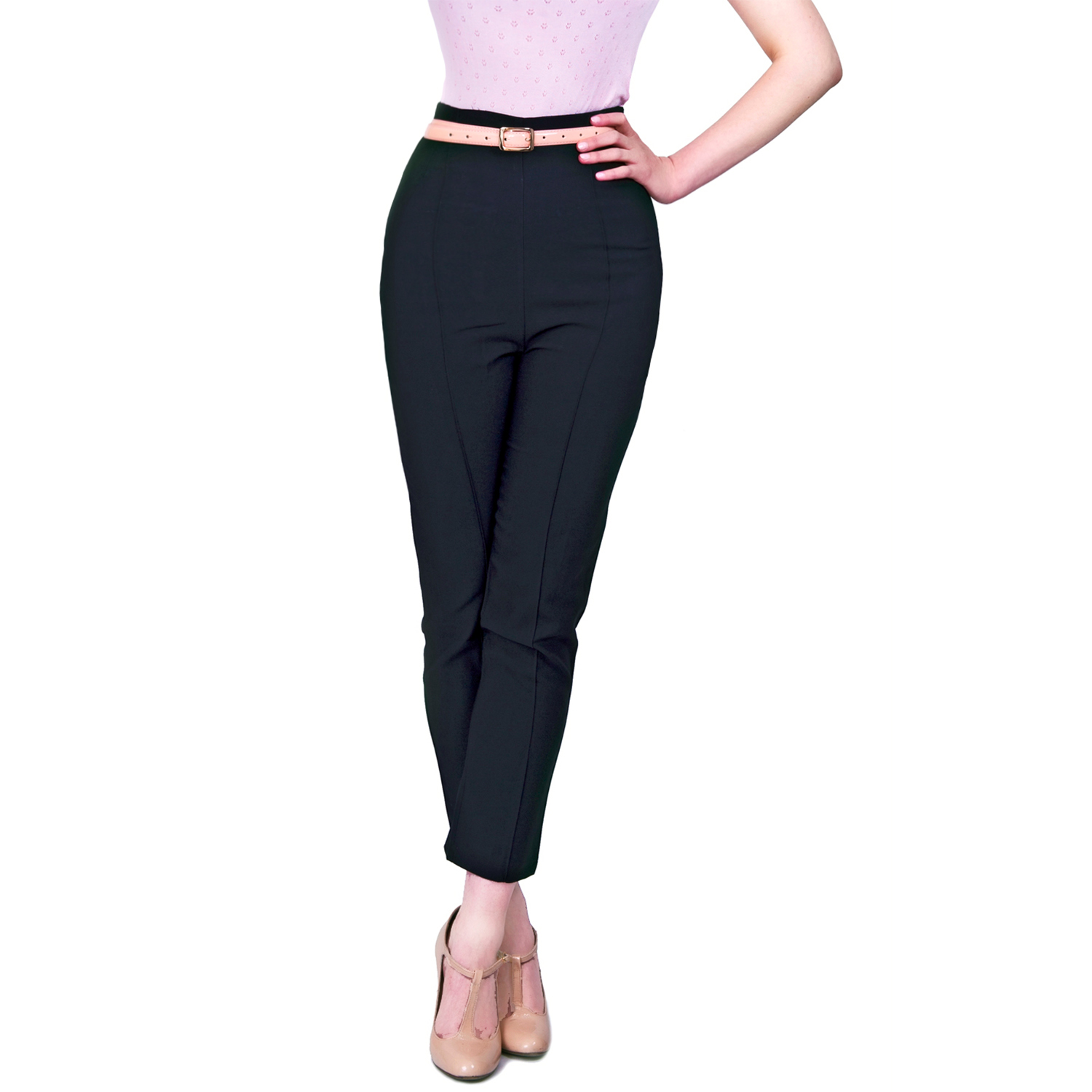 For sale is a pair of AG Adriano Goldschmied The Prima Mid Rise Cigarette Black Pants, 28R. Style: The Prima Mid Rise Cigarette Pants. These pants are in very good gently used condition. Color: Black. RENUAR Skinny Cigarette Straight Leg Pull On Pants Black& White Size 2. $