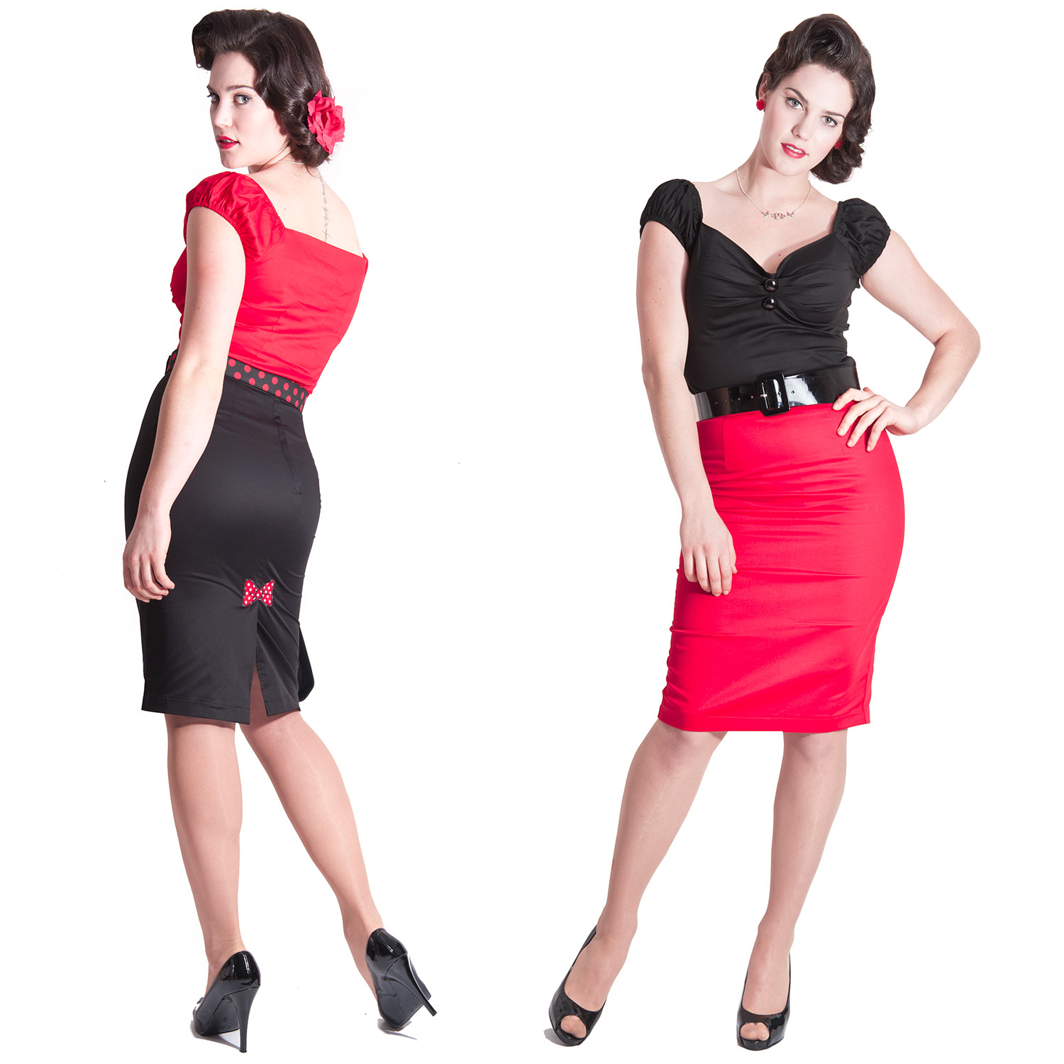 Collectif Betty Lou Vintage Rockabilly Pinup Fitted Formal Wiggle ...