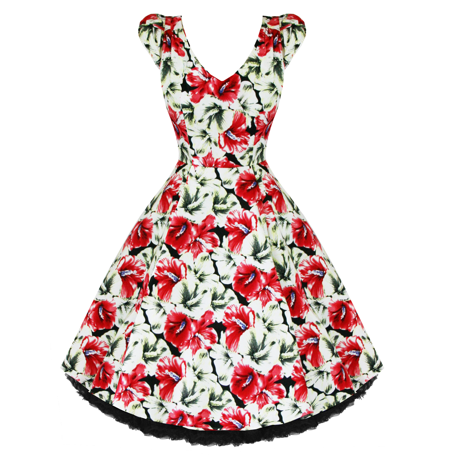 Hearts & Roses London Tropical Floral Vintage 50s Party Prom ...