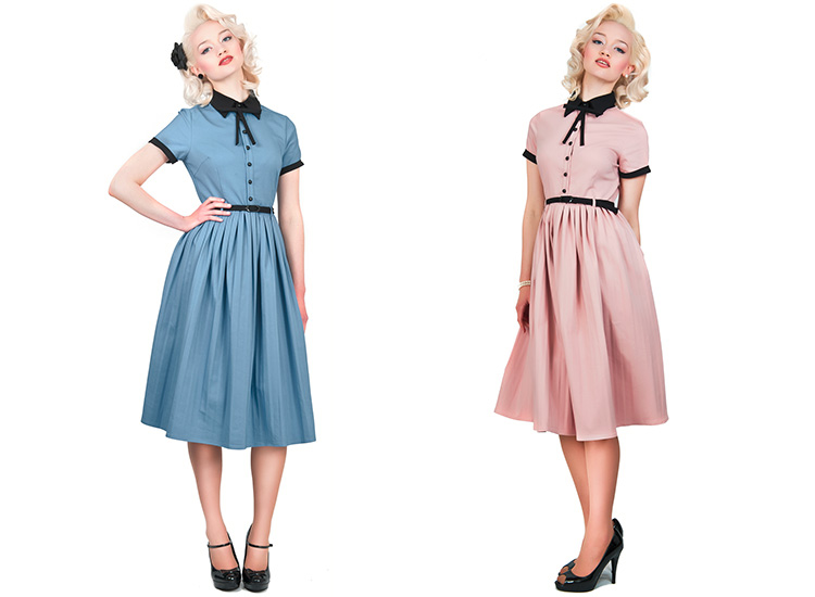 Collectif Cynthia Doll Vintage 50s Retro Pleated Party Prom Flared ...