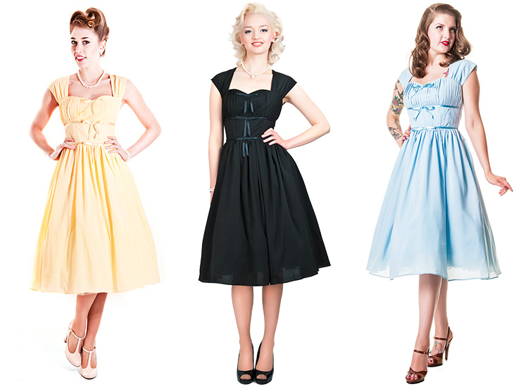 Collectif Ella Doll Vintage 50s Retro Petticoat Flared Evening Party Prom Dress Ebay