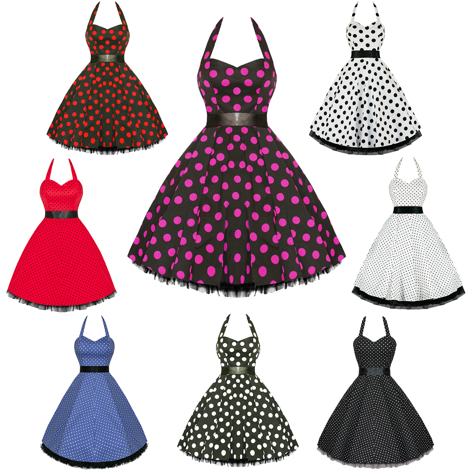 Hearts and Roses London Polka Dot 50s Rockabilly Pinup Party Swing ...
