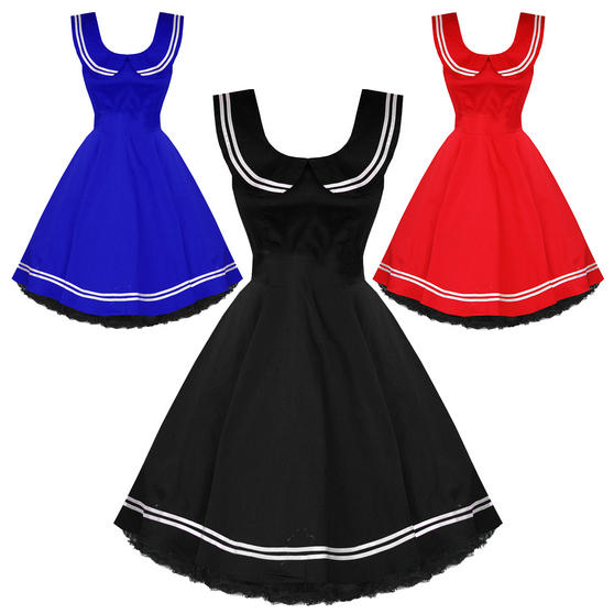 Hearts and Roses London Sailor Style 1950s Dress