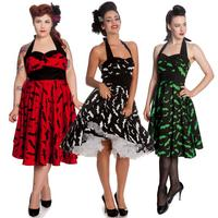 Hell Bunny Bat Halloween Rockabilly Psychobilly Vintage 50s Pin Up Party Dress