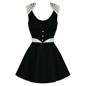 Hearts and Roses London Black Skater Mini Dress