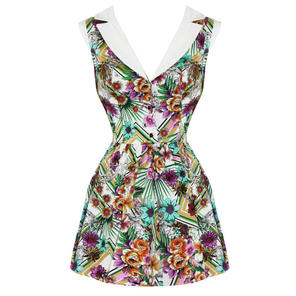 Hearts and Roses London Tropical 1950s Mini Dress