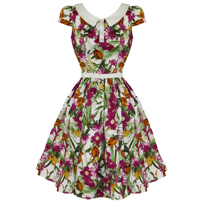 hearts roses london kleid neu pink retro blumen vintage 50s party swing kleid ebay. Black Bedroom Furniture Sets. Home Design Ideas