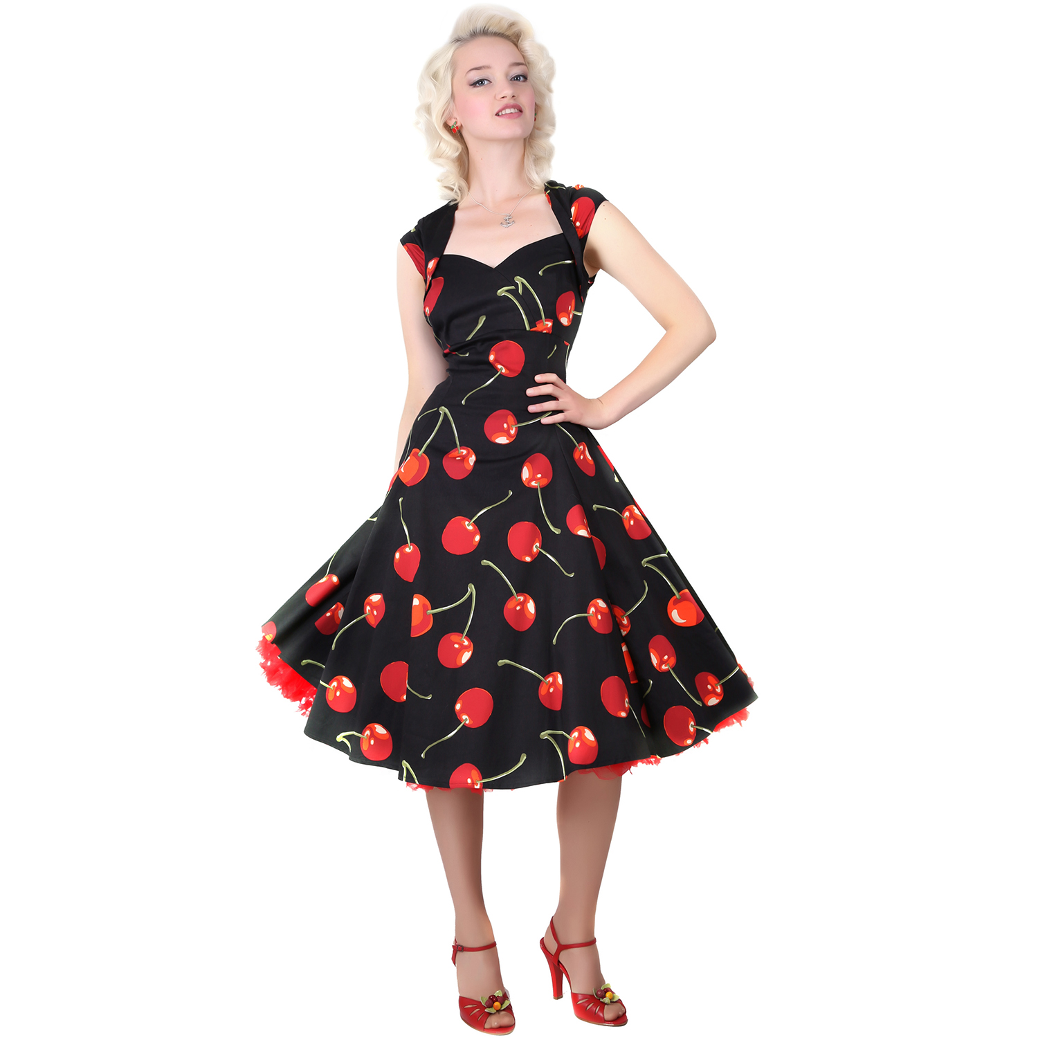 collectif doll black cherry stem vintage 1950s
