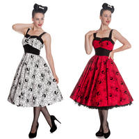 Hell Bunny Black Widow Halloween Rockabilly Psychobilly Vintage 50s Party Dress