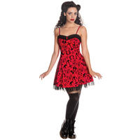 Hell Bunny Liv Tattoo Print Rockabilly Swallow Anchor Vintage Party Mini Dress