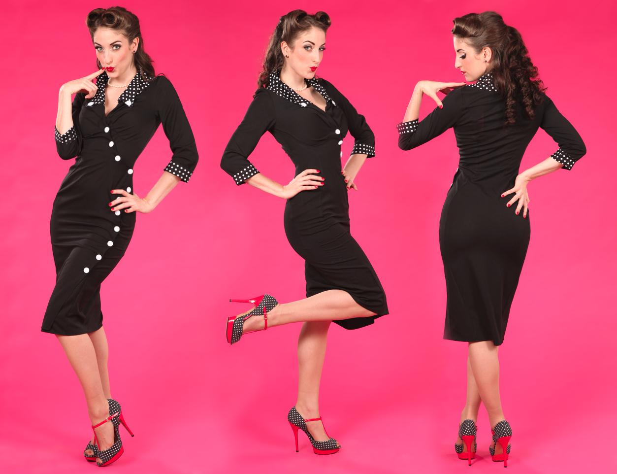... New Sexy 50er Jahre Vintage Retro Rockabilly Pencil Kleid Wiggle