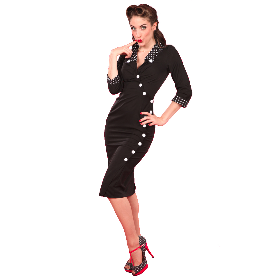 miss candyfloss damen kleid sexy 50s vintage retro rockabilly bleistiftkleid neu. Black Bedroom Furniture Sets. Home Design Ideas