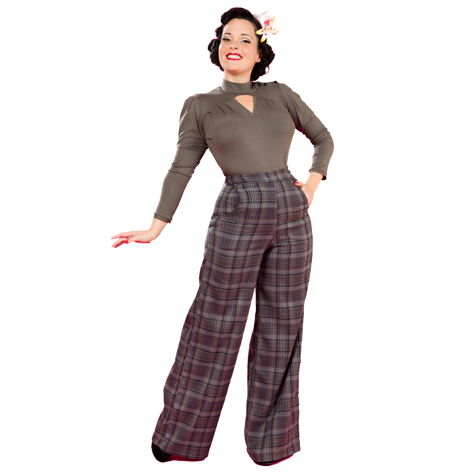 50s girl fashion pants