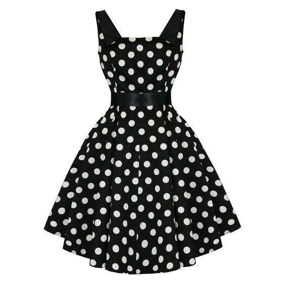 Hearts and Roses London Polka Dot 1950s Dress