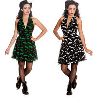 Hell Bunny Robyn Bat Halloween Rockabilly Psychobilly Party Mini Marilyn Dress