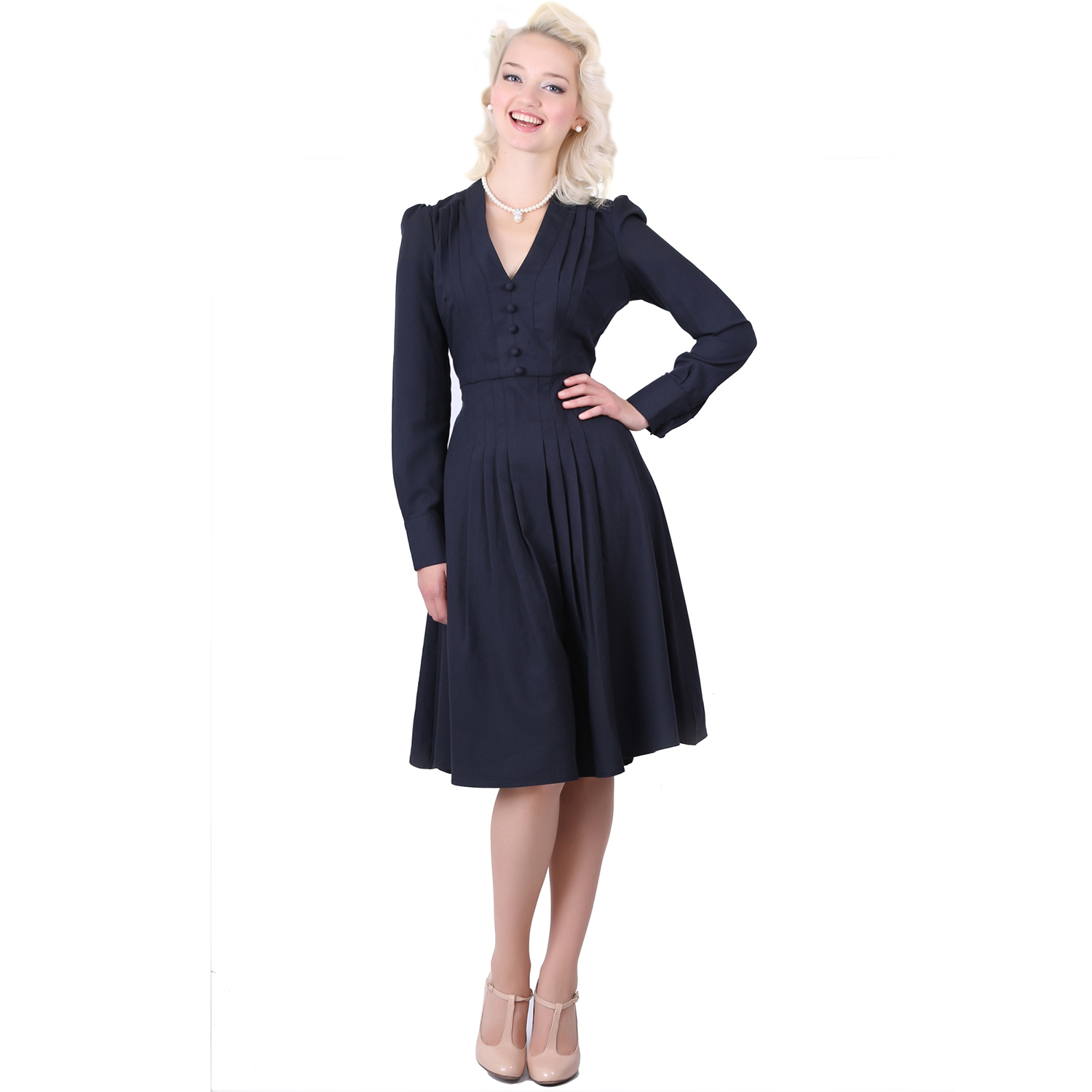 collectif wilhelmina vintage 40s 50s retro pleated