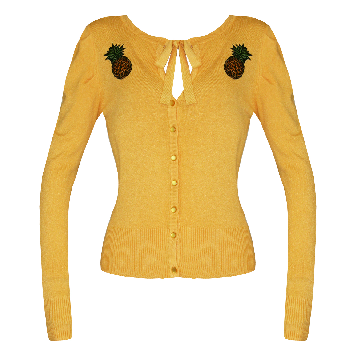 Banned Womens Tropical Pineapple Fine Knitted 50s ...