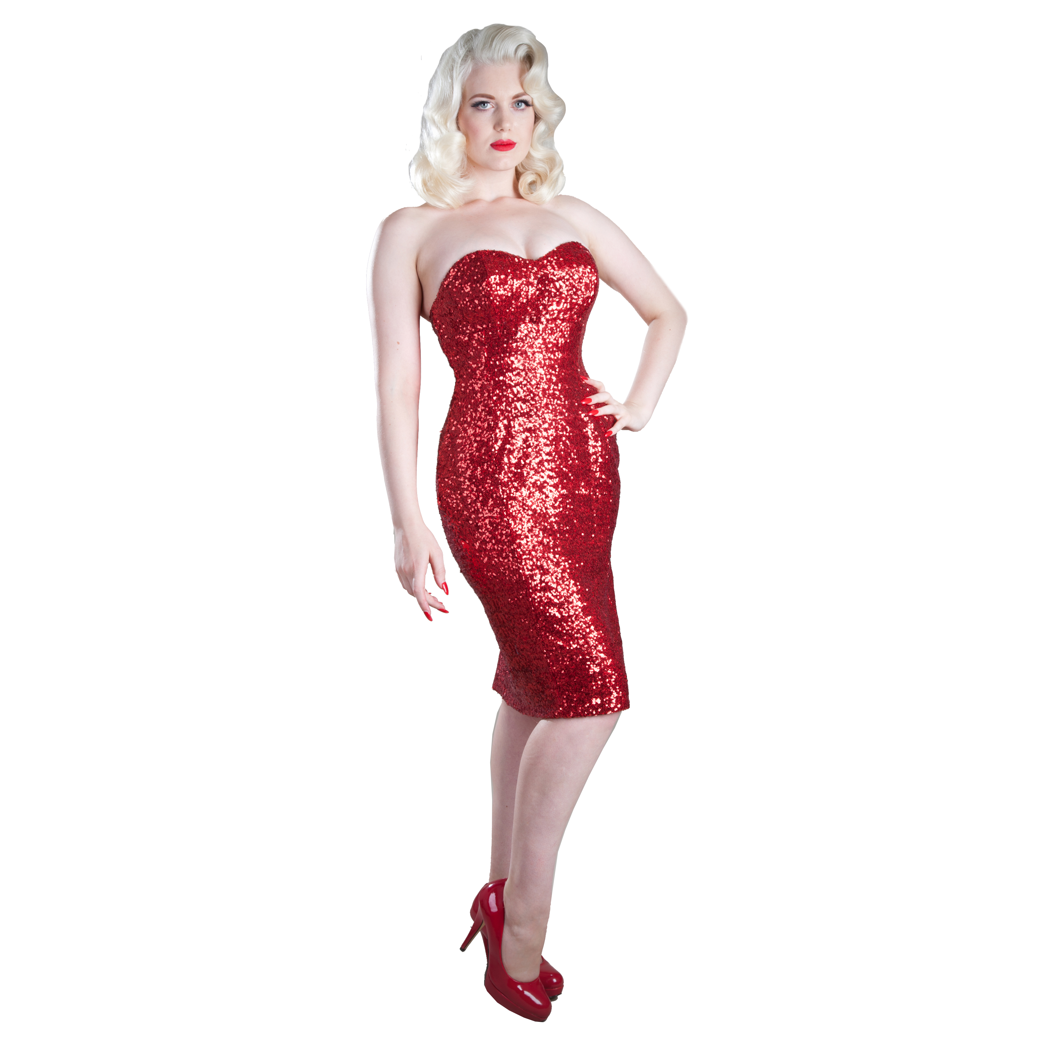 Gerry Roxby Jessica New Sequin Vintage Pinup Fitted Pencil Party ...
