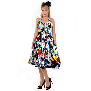 Banned Retro Pattern New Rockabilly 50s Vintage Pinup Party Prom Swing Dress