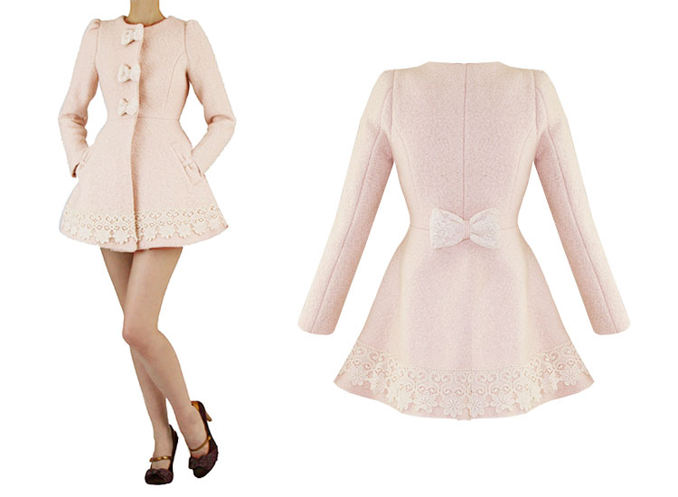 Pink Fitted Coat | Fashion Women's Coat 2017