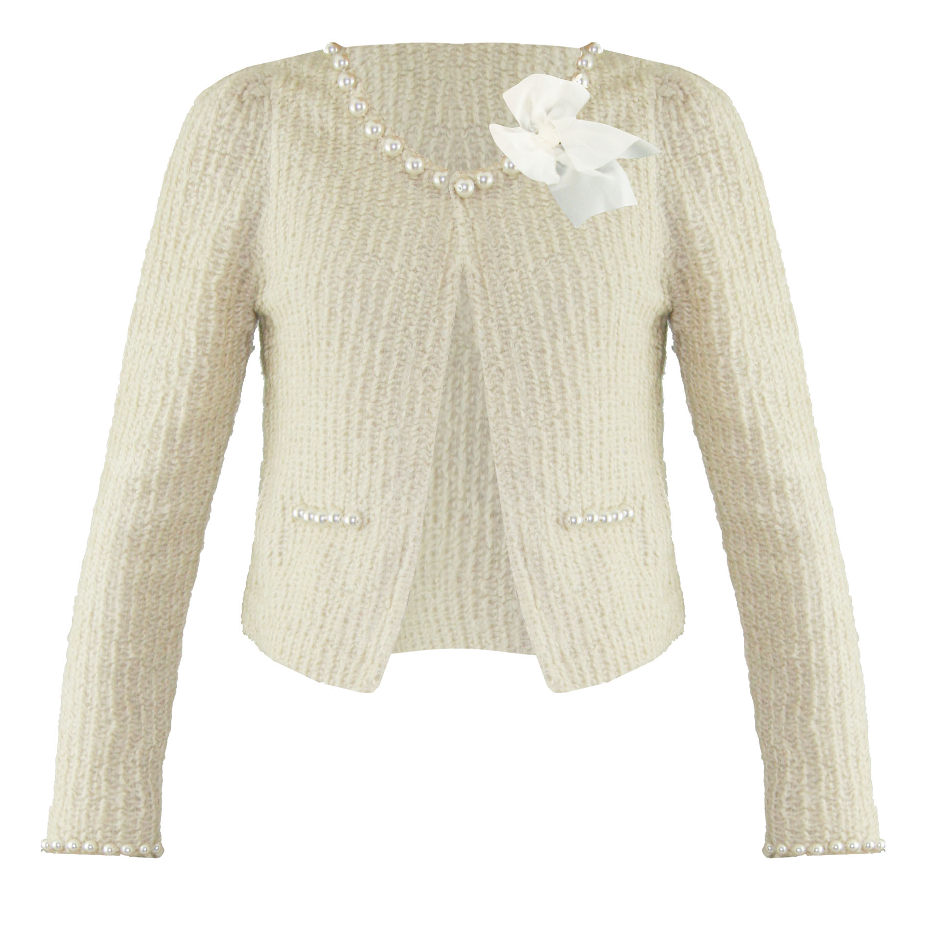 Soma London Ladies New Beige Boucle Pearl Retro 50S 60S Cardigan ...
