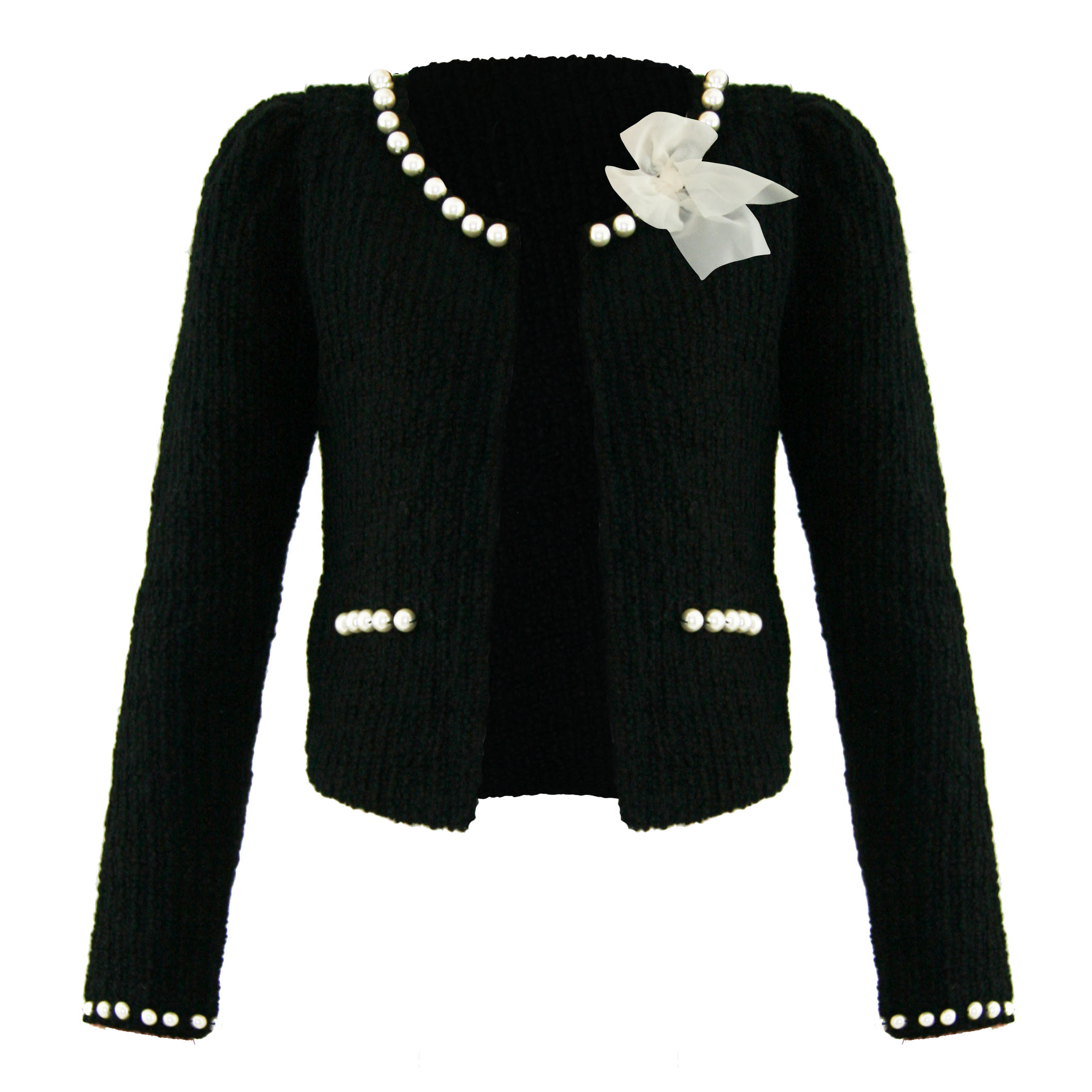 Soma London Ladies New Black Boucle Pearl Retro 50s 60s Cardigan ...