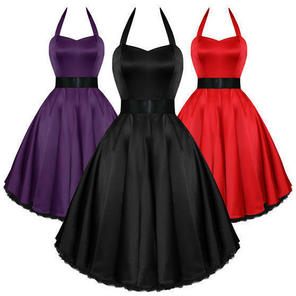 Hearts and Roses London Satin 50s Rockabilly Pinup Party Prom Swing Prom Dress