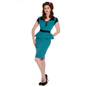 Banned New Retro Nautical Peplum Vintage 50s Pinup Party Pencil Career Dress