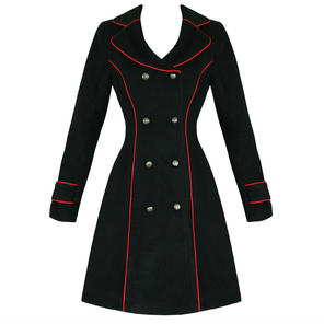 Hearts and Roses London Black Military Coat