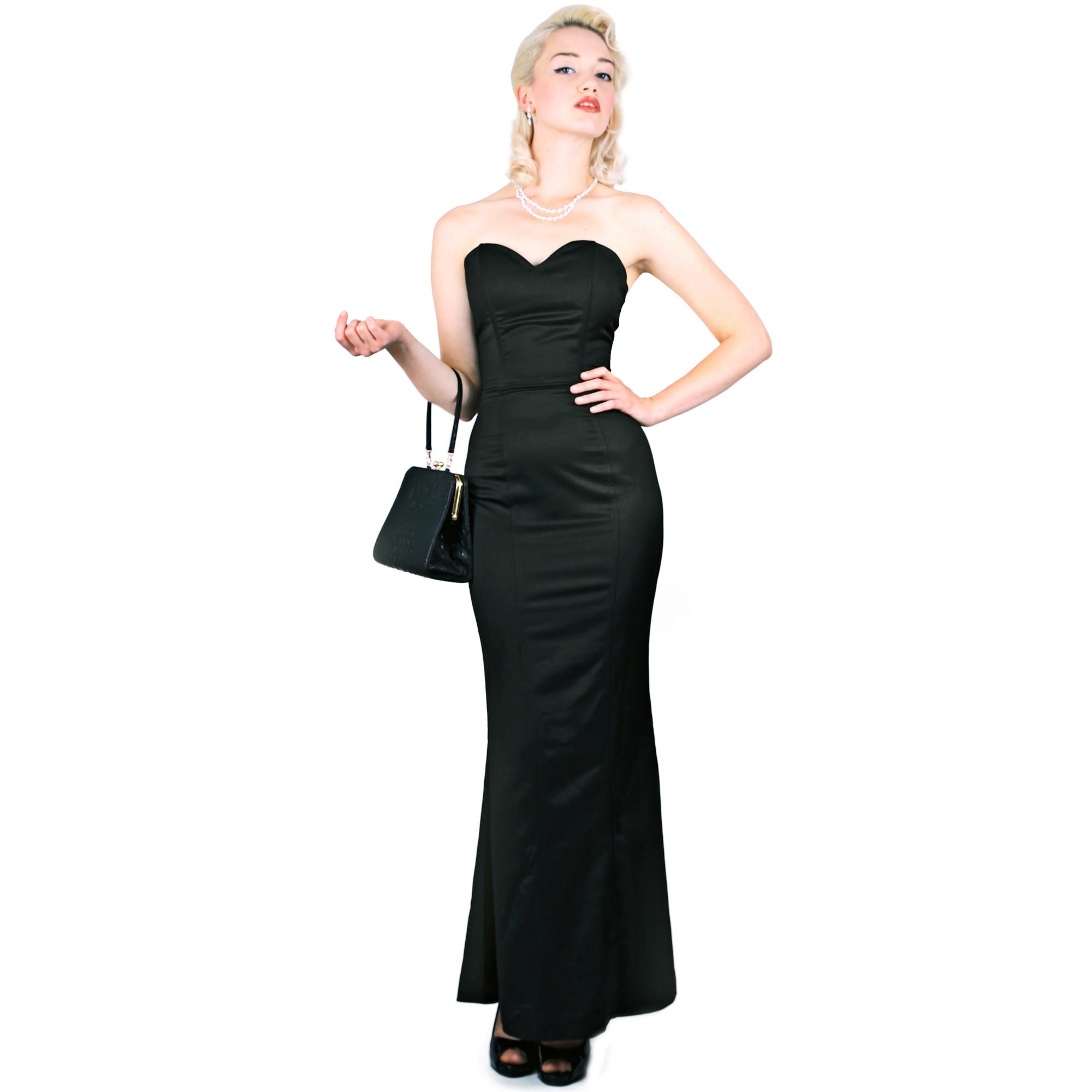 Black dress velvet - Collectif Claudette Green Velvet 30s 40s Ww2 Vintage