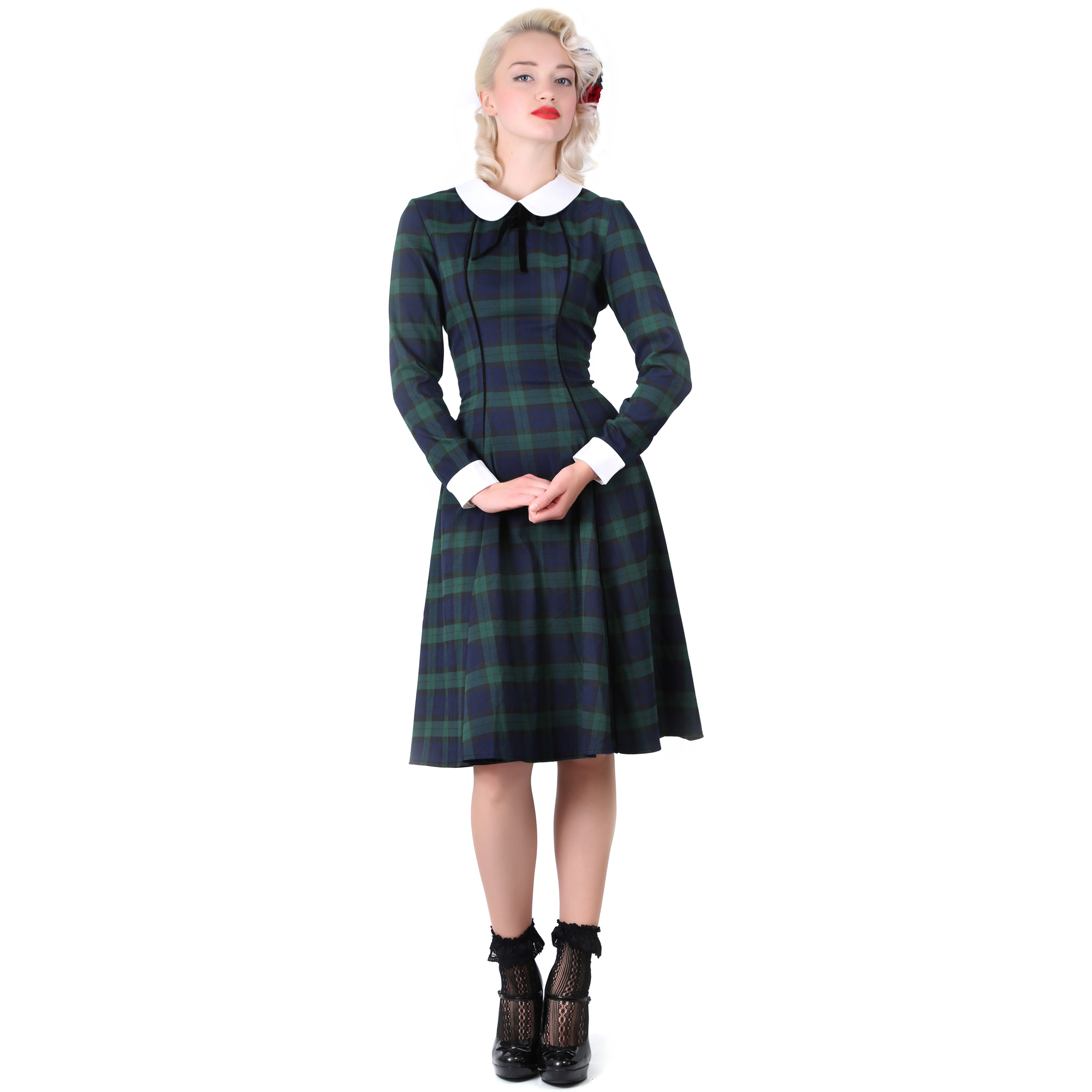 Collectif Lisa Doll Vintage 40s 50s Retro Party Career Flared ...