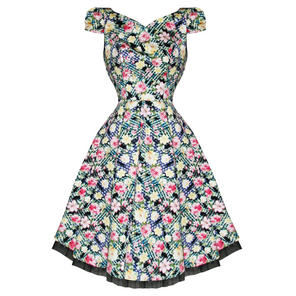 Hearts & Roses London Wild Rose Kitsch Floral Vintage 1950s Party Prom Dress
